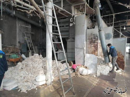 بازدید فرماندار از کارخانه خاوردشت بزرگترین و قدیمی ترین کارخانه شهرستان علی آبادکتول