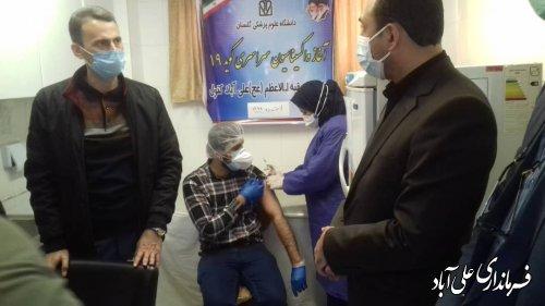 مرحله دوم واکسیناسیون کووید 19 در علی آباد کتول