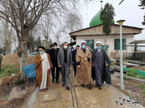 کاشت درخت با نام و یاد شهدا در امامزاده ساورکلاته شهرستان علی آباد کتول