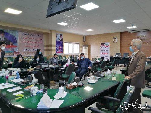 بازدید فرماندار علی آبادکتول از روند ثبت نام انتخابات ششمین دوره شورای اسلامی شهر