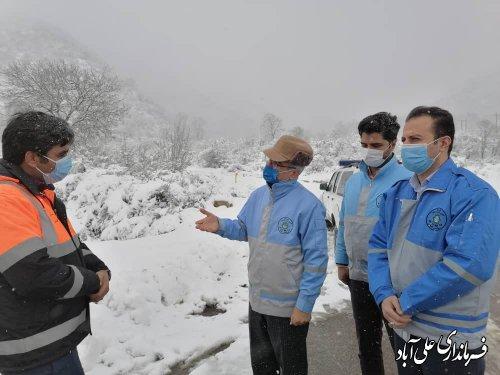 بازدید فرماندار از محورهای کوهستانی شهرستان علی آباد کتول