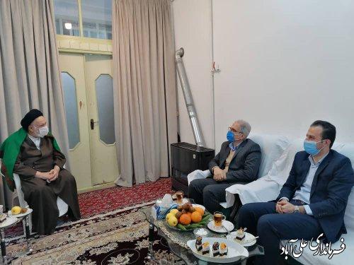 دیدار فرماندار با آیت الله شاهرودی نماینده معزز خبرگان رهبری