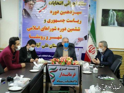 ثبت نام ۳۶نفر درپایان روزچهارم ثبت نام کاندیداهای ششمین دوره انتخابات شوراهای اسلامی شهرحوزه شهرستان علی آبادکتول؛