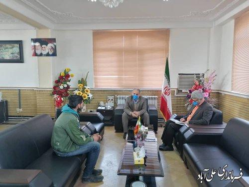 آخرین برنامه ملاقات مردمی فرماندار علی آبادکتول در سال ۹۹؛