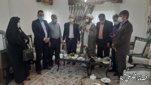 دیدار فرماندار با جانبازان سرافراز شهرستان علی آباد کتول