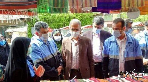 افتتاح نمایشگاه صتایع دستی و سوغات در پارک جنگلی کبودوال شهرستان علی آباد کتول