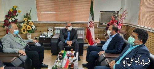 دیدار نوروزی نماینده و مسئولین شهرستان علی آباد کتول با فرماندار