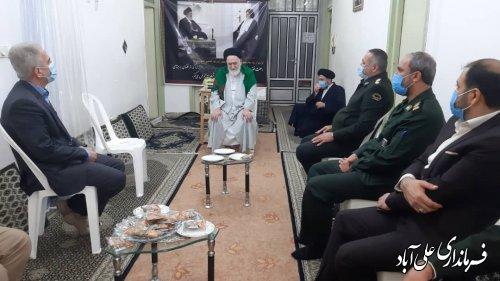 دیدار اعضای شورای تامین شهرستان با نماینده خبرگان رهبری و امام جمعه علی آبادکتول