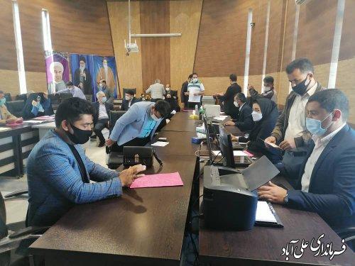 ثبت نام 33 نفر در اولین روز از ثبت نام انتخابات ششمین دوره شوراهای اسلامی روستا حوزه شهرستان علی آباد کتول