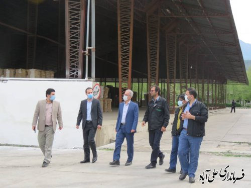 بازدید فرماندار علی آباد کتول  از کارخانه خاوردشت ؛