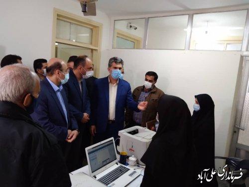 بازدید اعضای هیئت بازرسی شهرستان از محل ثبت نام انتخابات شوراهای اسلامی روستا در علی آباد کتول