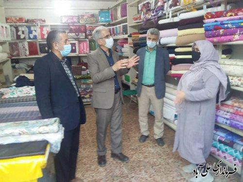 بازدید فرماندار از سطح شهر علی آباد کتول و ارزیابی وضعیت بازار در شرایط نارنجی کرونا