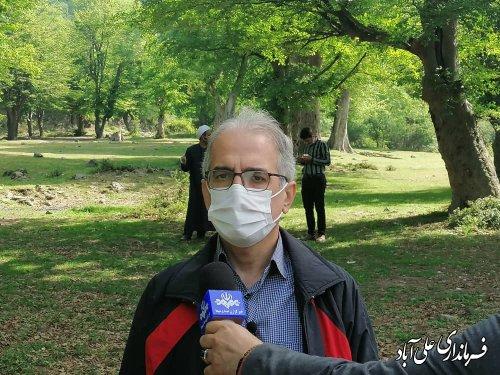 پاکسازی طبیعت و محیط زیست در منطقه گردشگری محمد آباد کتول بمناسبت روز هوای پاک