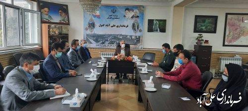 دیدار اعضای ستاد گرامیداشت هفته کار و کارگر شهرستان علی آباد کتول با فرماندار