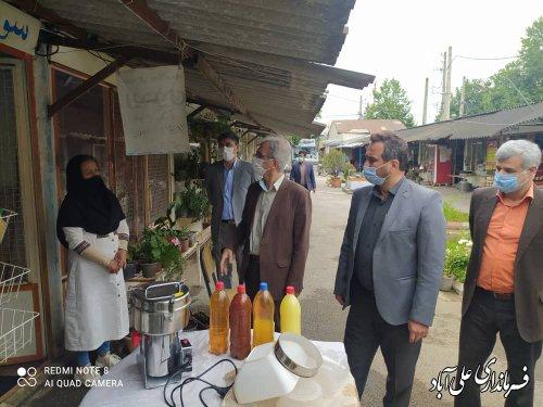 بازدید فرماندار و اعضای ستاد گرامیداشت هفته کار و کارگر شهرستان علی آباد کتول از بازارچه بانوان