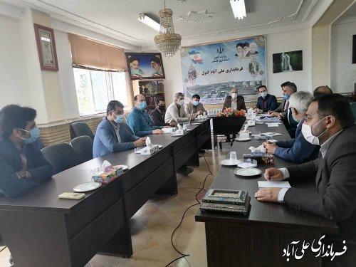 اولین جلسه شورای ترافیک شهرستان علی آباد کتول برگزار شد ؛