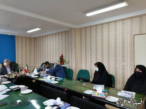 نشست اعضای هیئت اجرایی انتخابات با فرماندار علی آباد کتول