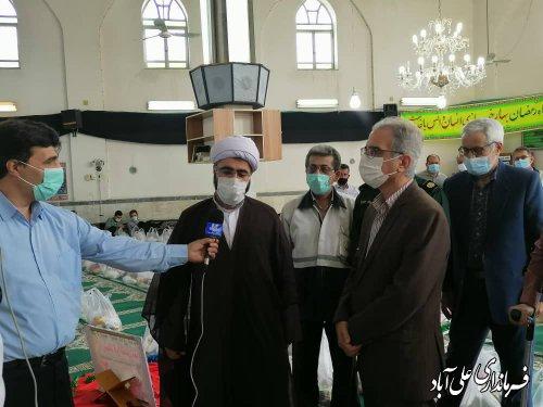 پویش ایران همدل و کمکهای مومنانه در مسجد جامع شهر فاضل آباد ؛