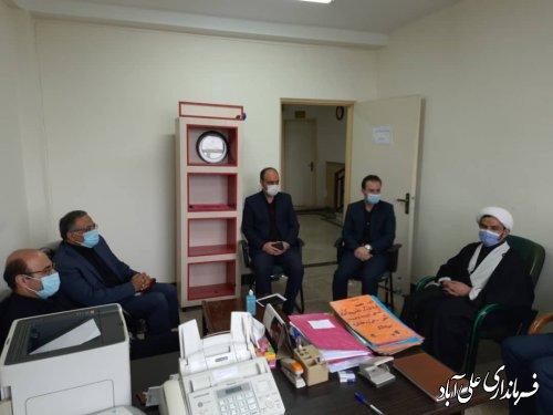 نشست مشترک اعضای هیئت بازرسی با اعضای هیئت نظارت شهرستان علی آبادکتول