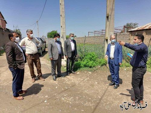 بازدید میدانی فرماندار علی آباد کتول از روستای برفتان