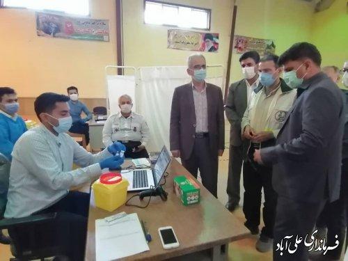 بازدید فرماندار از روند انجام واکسیناسیون در شهرستان علی آبادکتول