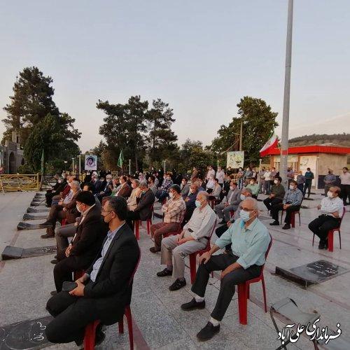 مراسم سالگرد شهادت نماینده فقید شهرستان علی آباد کتول برگزار شد