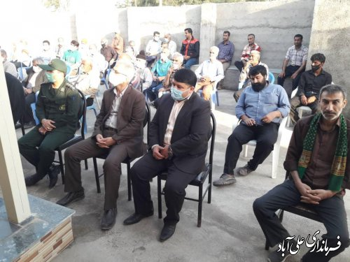افتتاح غسالخانه گلزار شهدای روستاي شيرنگ علیا از توابع بخش کمالان