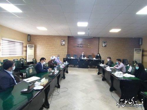 اولین جلسه شورای ثبت احوال شهرستان علی آبادکتول در سال 1400 برگزار شد ؛