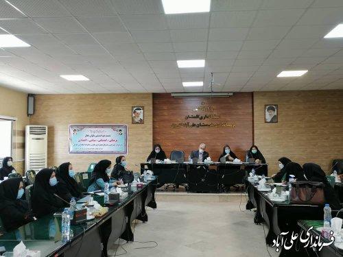 نشست بانوان فعال فرهنگی و اجتماعی شهرستان علی آباد کتول برگزار شد ؛
