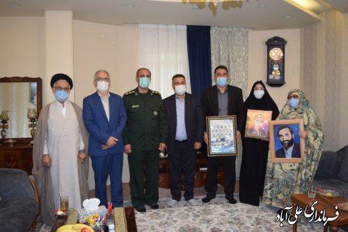 دیدار با خانواده سردار شهید رحیمی از شهدای فتح خرمشهر شهرستان علی آباد کتول