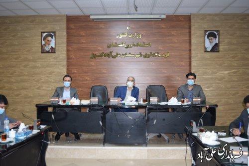 اولین جلسه مدیریت بحران شهرستان علی آباد کتول در سال 1400