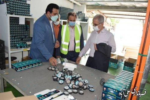 بازدید فرماندار علی آباد کتول از کارخانه تولیدی بافه سیم گلستان
