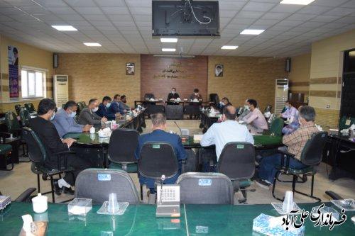 نشست تخصصی فعالین صنعت و  صنوف حوزه ساختمان علی آبادکتول برگزار شد ؛