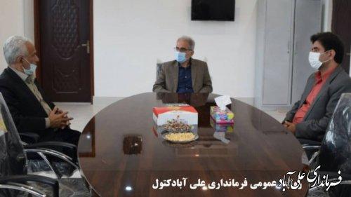 بازدید مجتبی جمالی فرماندار از اتاق اصناف شهرستان علی آبادکتول