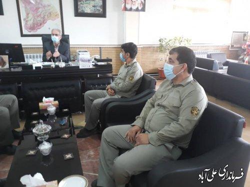 دیدار رئیس و کارشناسان محیط زیست شهرستان علی آبادکتول با  فرماندار بمناسبت روز جهانی محیط زیست