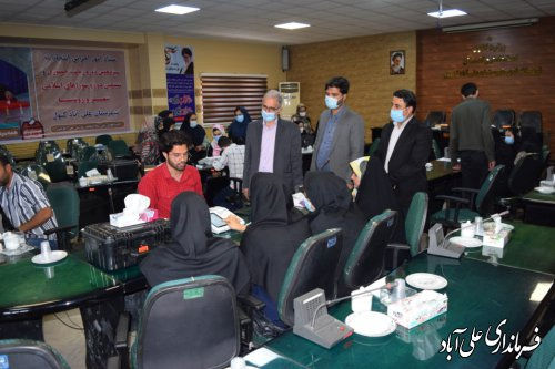 بازدید فرماندار علی آبادکتول از روند آموزش کاربران رایانه شعب اخذ رای