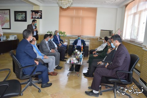 بازدید استاندار گلستان از ستاد انتخابات شهرستان علی آباد کتول