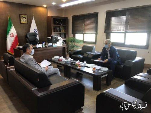 دیدار جمالی فرماندارعلی آبادکتول با عابدی رئیس سازمان مدیریت و برنامه ریزی گلستان