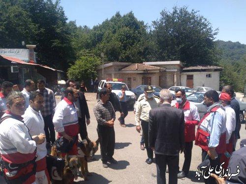 تلاش نیروهای امدادی  هلال احمر  علی آبادکتول برای یافتن، پیرمرد گمشده خوزستانی