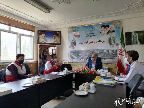 دیدار افشانی رئیس جمعیت هلال احمر با فرماندار علی آبادکتول