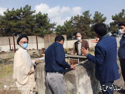 بازدید فرماندار از تاسیسات آب شرب شهر علی آباد کتول