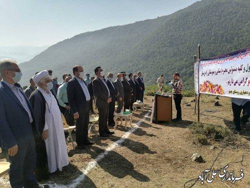 آیین کلنگ زنی پروژه دکل مخابراتی روستای چینو از توابع بخش مرکزی  علی آباد کتول