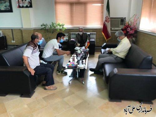 ملاقات عمومی فرماندار علی آباد کتول  با شهروندان بر اساس برنامه هفتگی برگزار شد ؛