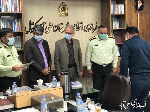 تجلیل از زحمات فرماندهی و کارکنان انتظامی شهرستان علی آباد کتول