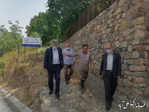بازدید فرماندار علی آباد کتول از روستاهای سیاه رودبار و میان رستاق