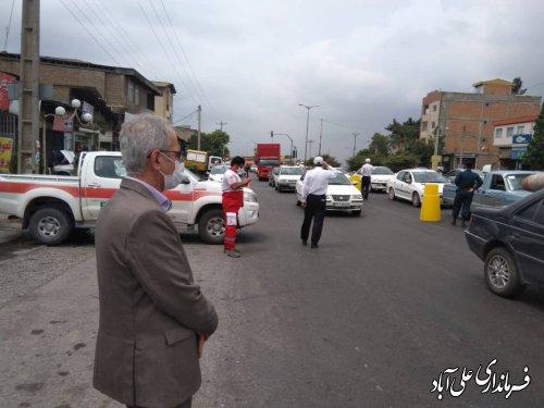 اعمال محدودیتهای تردد خودروهای غیربومی در ورودیهای شهرستان علی آبادکتول