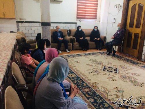 بازدید فرماندار از ادارات تامین اجتماعی و  بهزیستی شهرستان علی آبادکتول