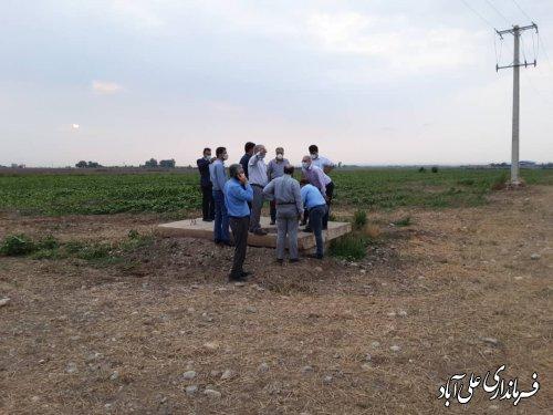 بازدید فرماندار و مدیران استانی از منابع و مخازن آبی شهرستان علی آبادکتول