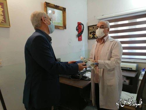 تقدیر از پزشکان پرتلاش عرصه مبارزه با کرونا و پزشک پیشکسوت علی آباد کتول
