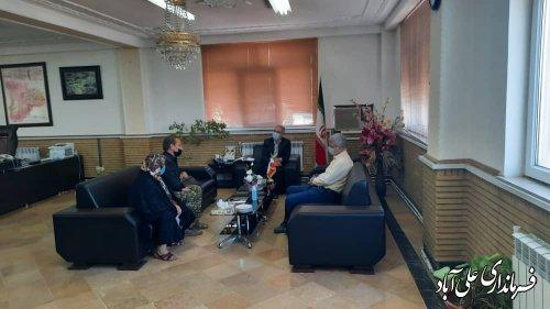 دیدارهای مردمی فرماندار علی آّبادکتول  با شهروندان و اهالی منطقه برگزار شد
